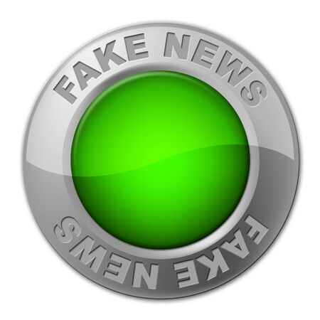 Fake News Button Meaning Misinformation 3d Illustration