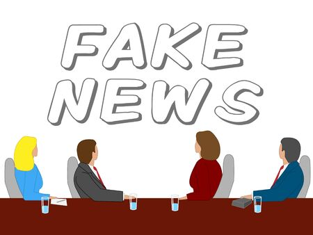 Fake News Message On A Wall 3d Illustration Stock Photo
