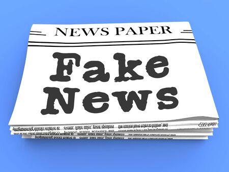 Fake News Headline On Newspaper 3d Illustration