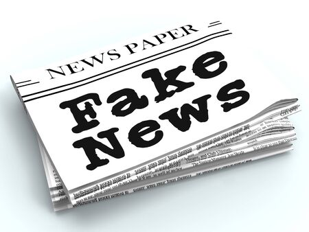 Fake News Headline On A Newspaper 3d Illustration