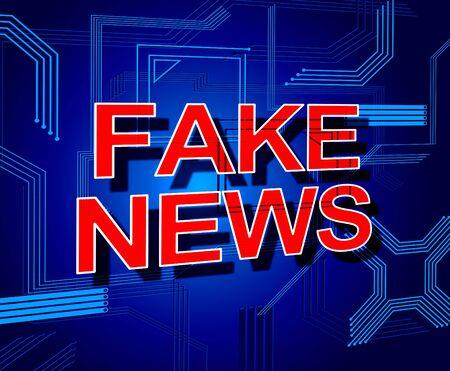 Fake News Meaning Misleading Falsehood 3d Illustration Stock Photo