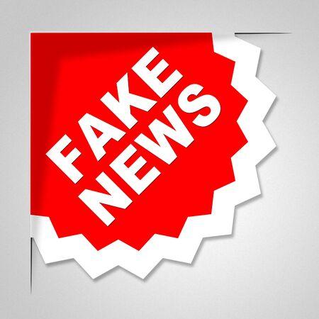 Fake News Badge Meaning Untrue 3d Illustration Stock Photo