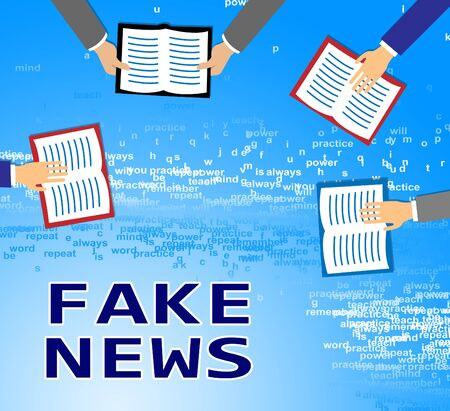 Fake News Newspapers Meaning Propaganda 3d Illustration