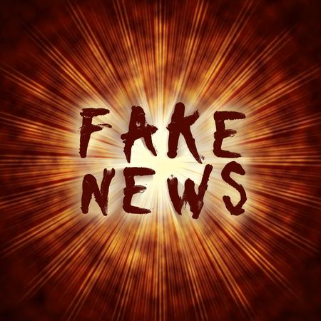 Fake News Exploding Bomb Hoax Words 3d Illustration