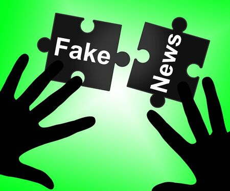 Fake News And Misinformation Jigsaw Silhouette 3d Illustration