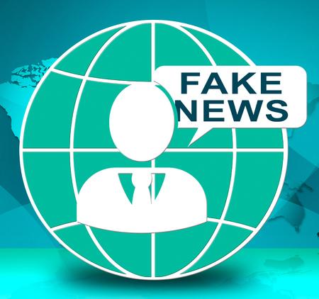 Fake News Globe Meaning Propaganda 3d Illustration Stock Photo