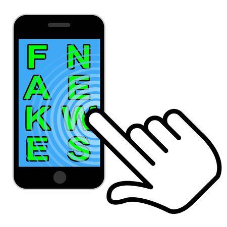 Fake News Message On Smart Phone Hand 3d Illustration