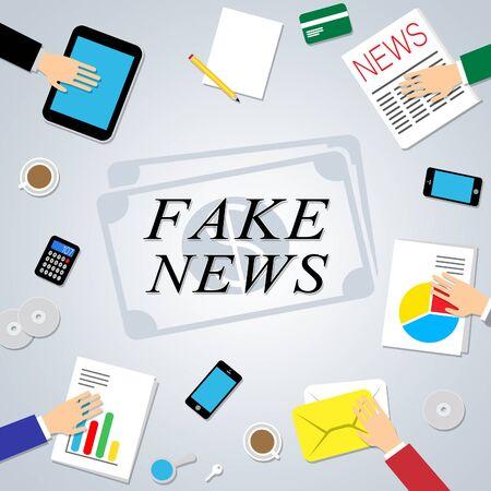 Fake News Social Media Communications Networks 3d Illustration