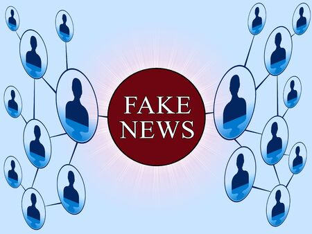 Social Media Network Of Fake News Facts 3d Illustration Stock Photo