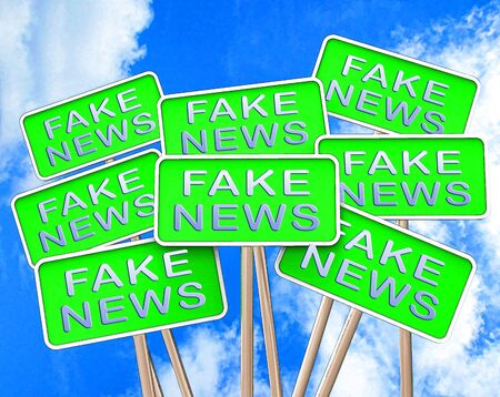 Fake News Signs Meaning Alternative Facts 3d Illustration