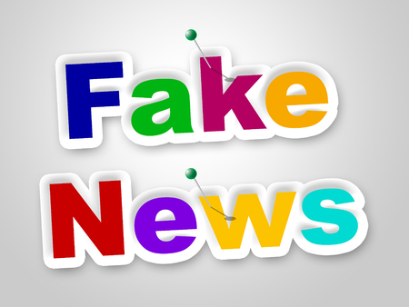 Fake News Letters Meaning Untrue 3d Illustration Stock Photo
