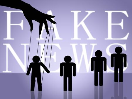 Fake News Puppets Meaning Manipulation 3d Illustration
