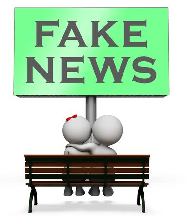 Fake News Sign Meaning Misleading 3d Illustration