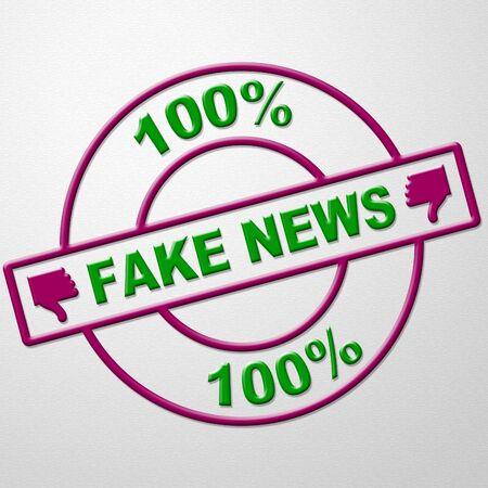 Fake News Stamp Means Misinformation 3d Illustration