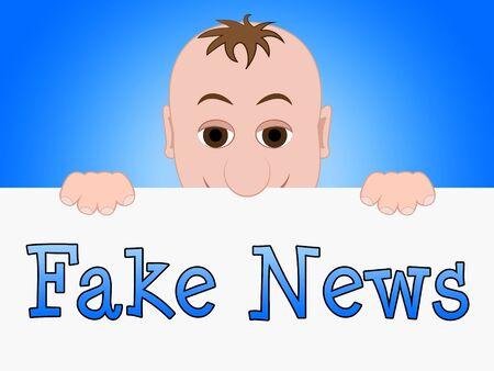 Fake News Baby Meaning Dishonest 3d Illustration Stock Photo
