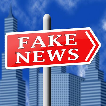 Fake News Sign Shows Alternative Facts 3d Illustration Stock Photo
