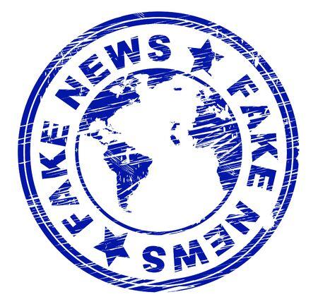 Fake News Stamp Meaning Misinformation 3d Illustration