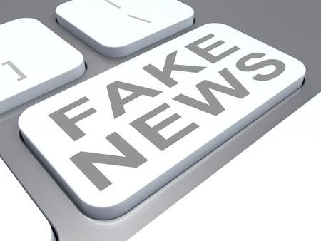 Fake News Misleading Computer Keyboard Key 3d Illustration