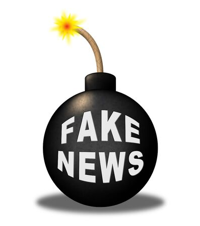 Fake News Bomb Meaning Misinformation 3d Illustration