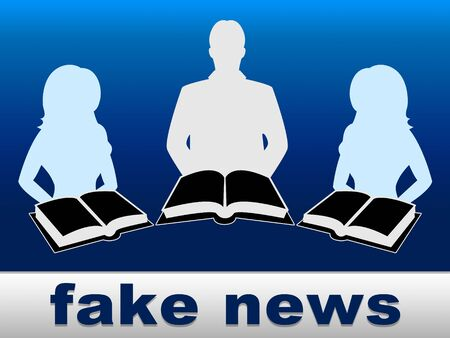 Fake News People Meaning Propaganda 3d Illustration
