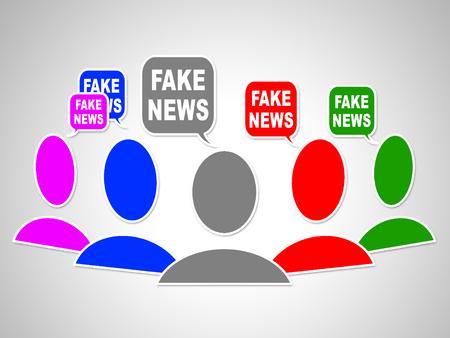 Fake News Social Media Speech Bubbles 3d Illustration
