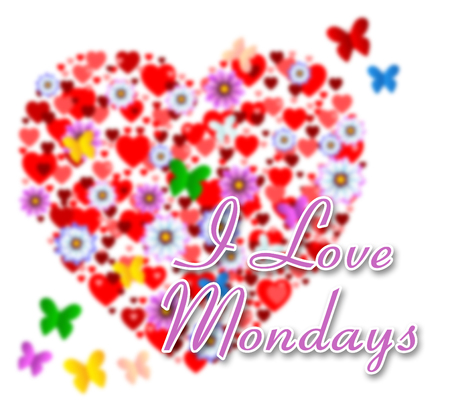 Monday Love Quotes - Flowers Heart And Butterflies - 3d Illustration