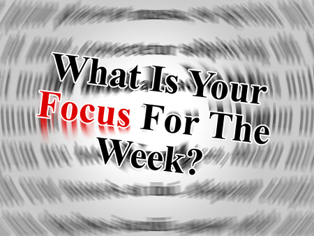 Thought For The Week - Your Focus Message - 3d Illustration