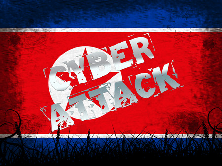 Cyber Attack By North Korean Spy 3d Illustration. Shows Hacking By Dprk And Malware Or Global Internet Risk To Data Integrity