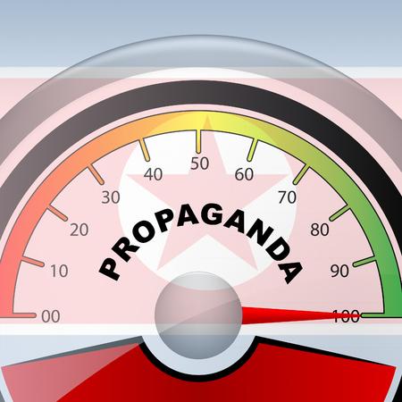Propaganda Revolutionary Hoax From North Korean 3d Illustration. Disinformation And Misleading False Politics From NK Dprk