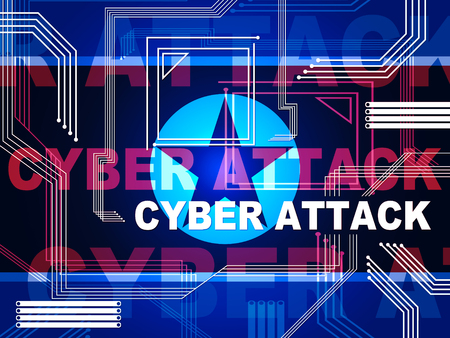 Cyber Attack Risk By North Koreans 3d Illustration. Shows Hack By North Korea And Virus Or Online Cybercrime Security Threat To Web Protection Banque d'images