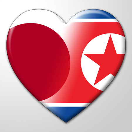 Tokyo And North Korea Dprk Nuclear Hope 3d Illustration. Peace Unity And Denuclearization Between Countries - Japan And NK