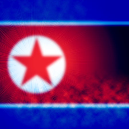 North Korean Background Flag With Copy Space. Korea Blur Texture For NK Stock fotó