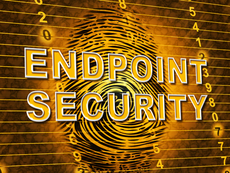 Endpoint Security Safe System Shows Safeguard Against Virtual Internet Threat - 3d Illustration Stock Photo