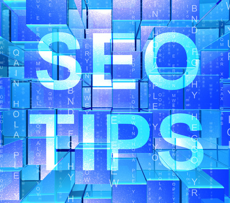 Seo Tips Online Ranking Advice 3d Rendering Shows Search Engine Optimization Strategy For Keywords And Content