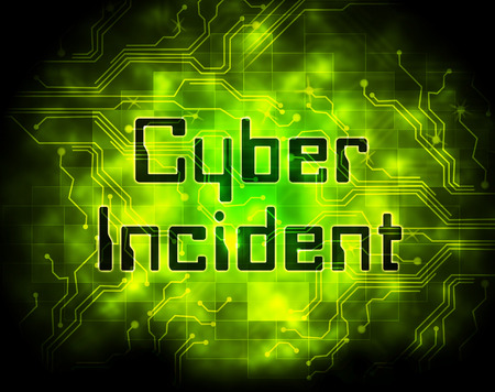 Cyber Incident Data Attack Alert 2d Illustration Shows Hacked Networks Or Computer Security Penetration Foto de archivo - 104935691