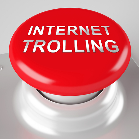 Internet Trolling Cyber Hate Instigator 3d Rendering Shows Disruptive Negative Behaviour And Inflammatory Troll Messages