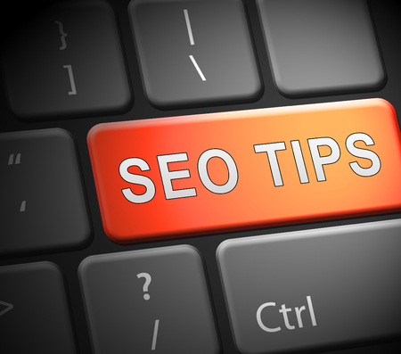Seo Tips Online Ranking Advice 3d Illustration Shows Search Engine Optimization Strategy For Keywords And Content