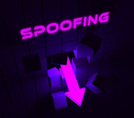 Spoofing Attack Cyber Crime Hoax 3d Rendering Means Website Spoof Threat On Vulnerable Deception Sites Stock Photo