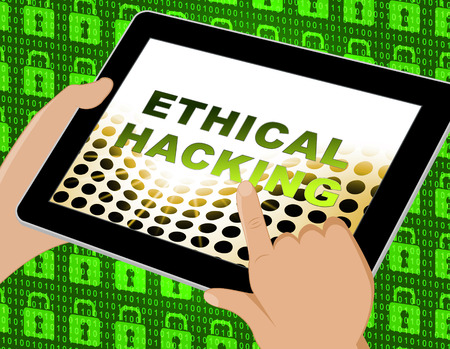 Ethical Hacking Data Breach Tracking 3d Illustration Shows Corporate Tracking To Stop Technology Threats Vulnerability And Exploits Stock Photo