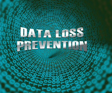 Data Loss Prevention Security Shield 3d Illustration Shows Technology Shield To Prevent Unprotected Or Unsecured Information