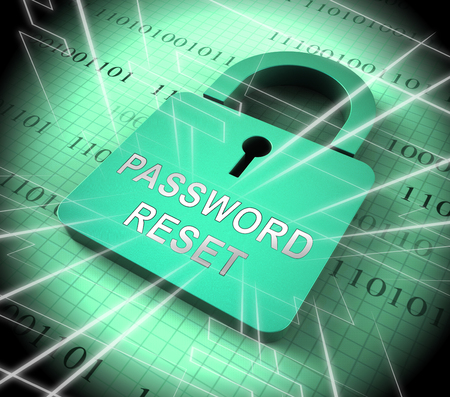 Password Reset Email Interface Update 3d Rendering Shows Invalid Login Problem Message To Re-Set And Update Stock Photo
