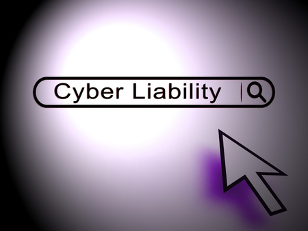 Cyber Liability Insurance Data Cover 2d Illustration Shows Internet Fraud Insurers Giving Risk Coverage Stock Photo