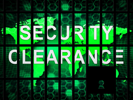 Security Clearance Cybersecurity Safety Pass 2d Illustration Means Access Authorization And Virtual Network Permission
