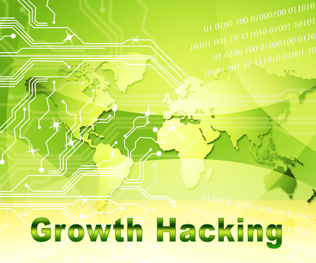 Growth Hacking Website Improvement Tactics 2d Illustration Shows Breakthrough Ways To Improve Websites Traffic