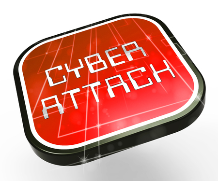 Hacker Cyberattack Malicious Infected Spyware 3d Illustration Shows Computer Breach Of Infected Network