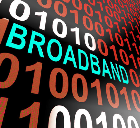 Good Broadband High Speed Streaming 3d Illustration Shows Efficient And Fast Online Adsl Communication Transmission Stock Photo