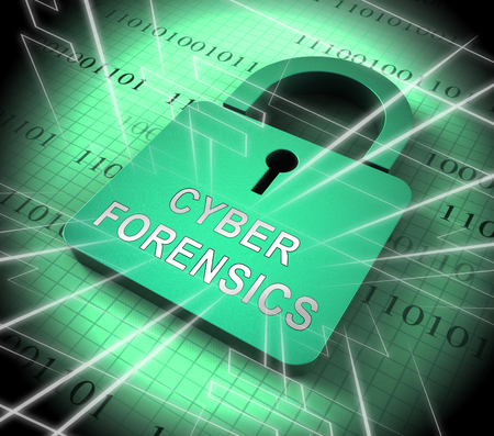 Cyber Forensics Computer Crime Analysis 3d Rendering Shows Internet Detective Diagnosis For Identification Of Online Cybercrime