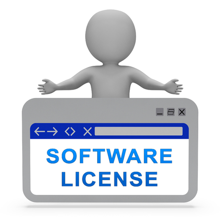 Software License Certified Application Code 3d Rendering Means Application Program Certificate Agreement Zdjęcie Seryjne