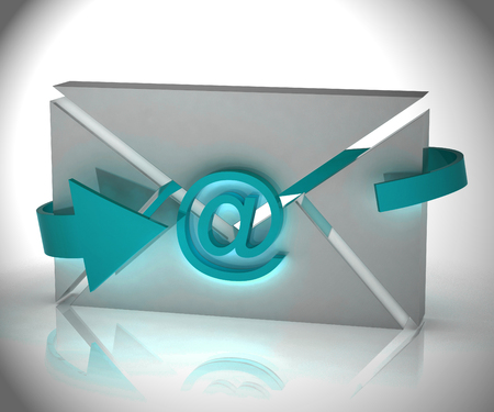 Email Automation Digital Marketing System 3d Rendering Shows Automated Process To Send Messages Using Electronic System