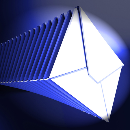 Email Overload Spam Communication Stress 3d Rendering Shows Overwhelmed And Overworked From Electronic Mail